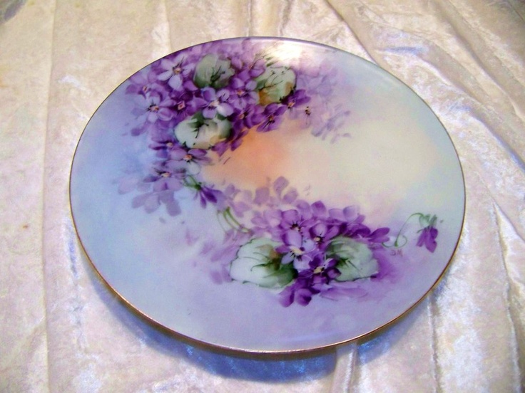 Vintage Thomas Sevres Bavaria 1900 S Hand Painted Quot Violets