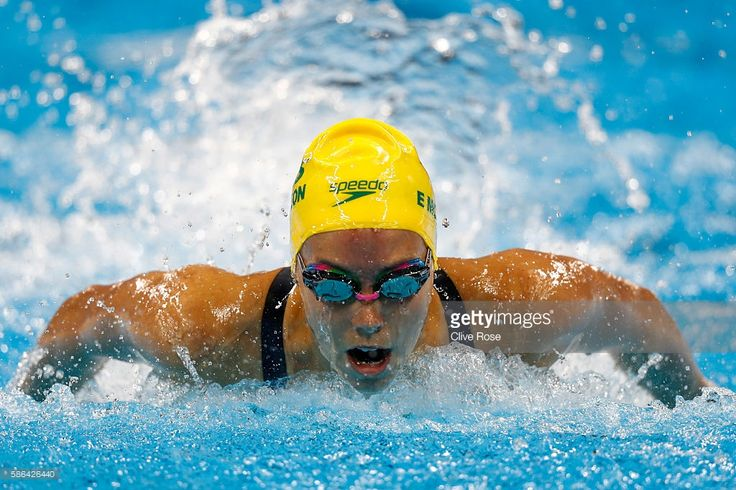 Emma McKeon of Australia competes in heat five of the Women's 100m Butterfly on…