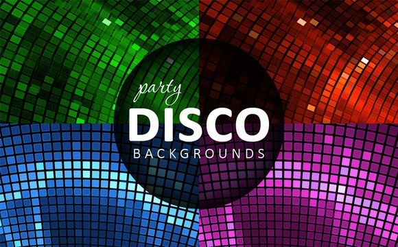 4 Abstract disco backgrounds. Textures. $3.00