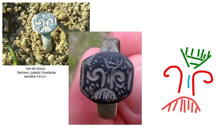 Inel din bronz, descoperit într-o necropolă de incinerație și înhumație, amplasată pe coama unui tell, în partea de est a localității Seimeni, județul Constanța.