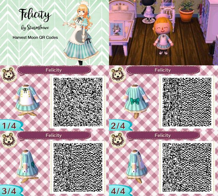 Animal Crossing New Leaf Qr Codes Cat Dress