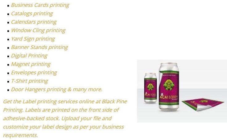 #Label #Printing at Blackpine Printing. http://blackpineprinting.bravesites.com/entries/general/-label-printing-at-blackpine-printing