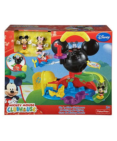 Another great find on #zulily! Mickey Mouse Fly 'N Slide Clubhouse Set #zulilyfinds