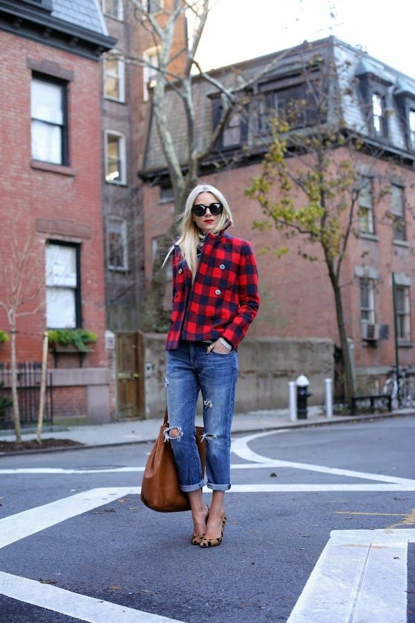 Oh, my!! The coat!!  I have always adore buffalo plaid, and this just verifies it!