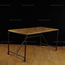 Экспортной торговли чердак ретро стиль / утюг имитация ржавчины сделать / Elm ролик стол / живопись стол(China (Mainland))