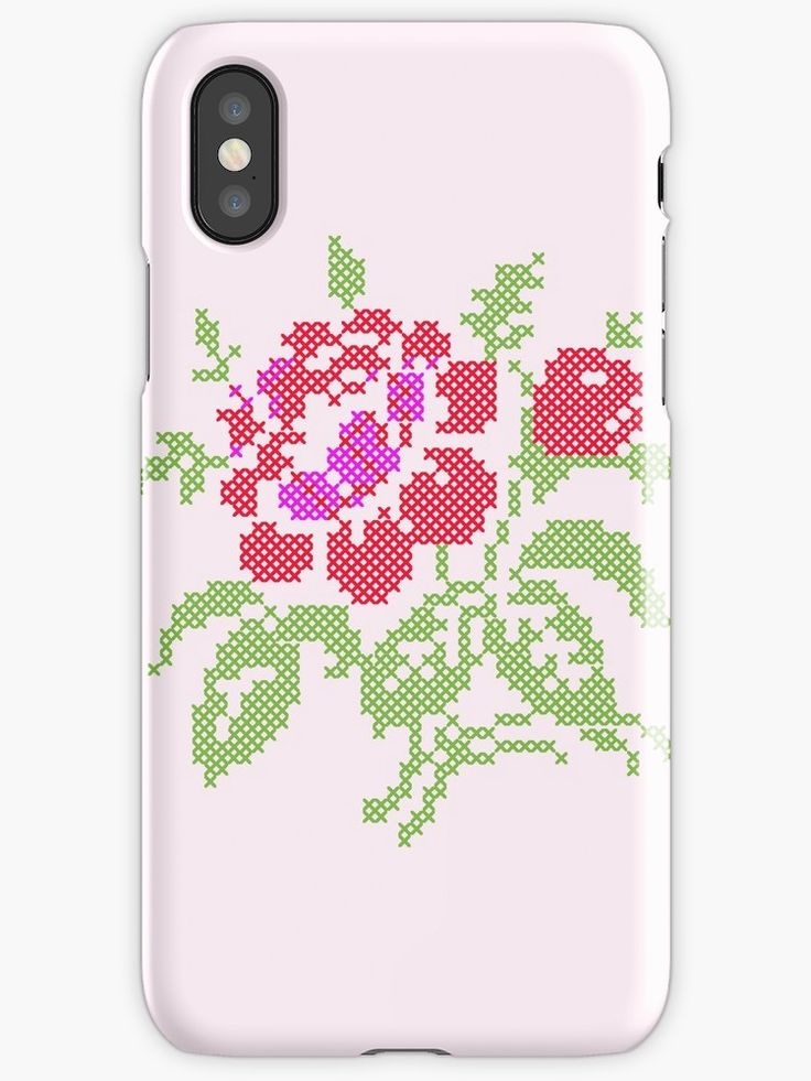 Vintage Embroidered Red Rose made in Adobe Illustrator stitch by stitch, • Also buy this artwork on phone cases, apparel, home decor, and more.