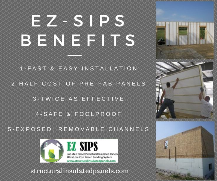 Reduce your #construction cost by using Structural Insulated Panels from EZSIPs.