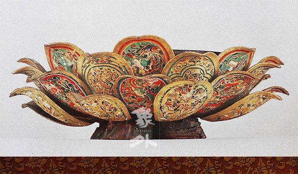 日本東大寺正倉院寶物-唐 漆金繪盤燭臺