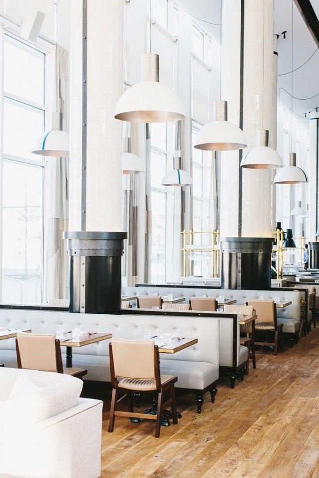 St. Cecilia | Atlanta, Ga | Restaurant interior that could inspire a modern, yet rustic work space