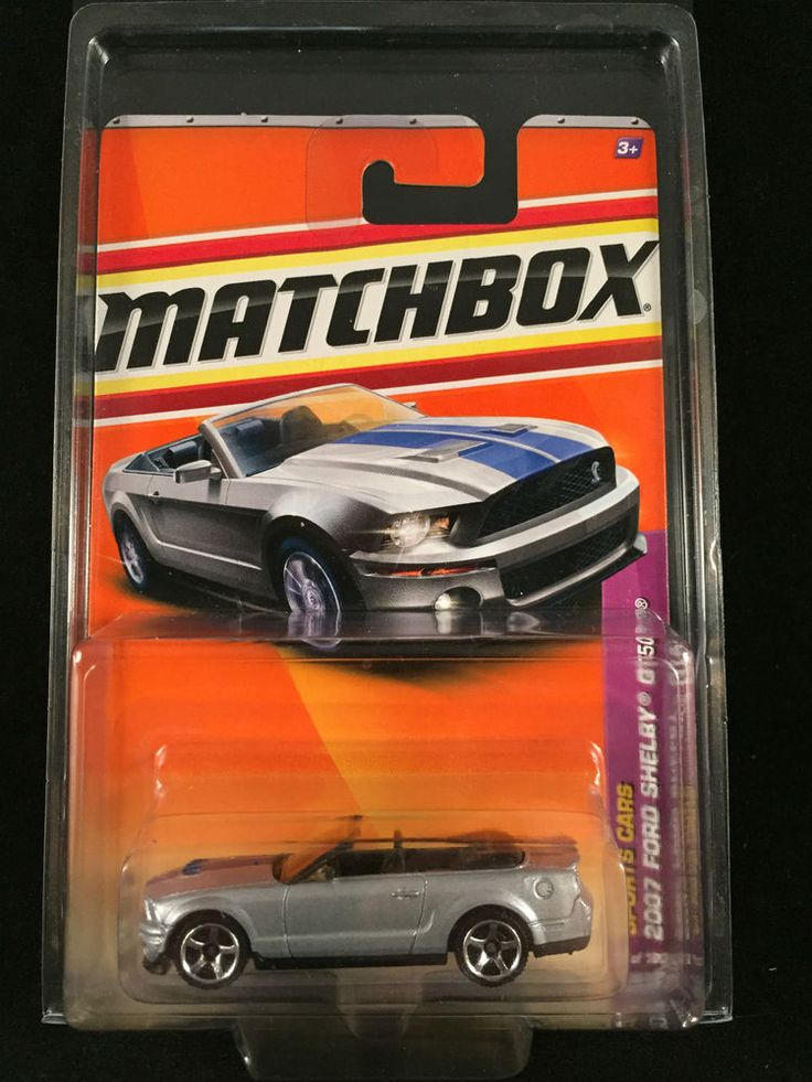 2011 Matchbox Sports Cars 2007 FORD SHELBY GT 500 Convertible Silver w/PROTECTO  #Matchbox #Ford