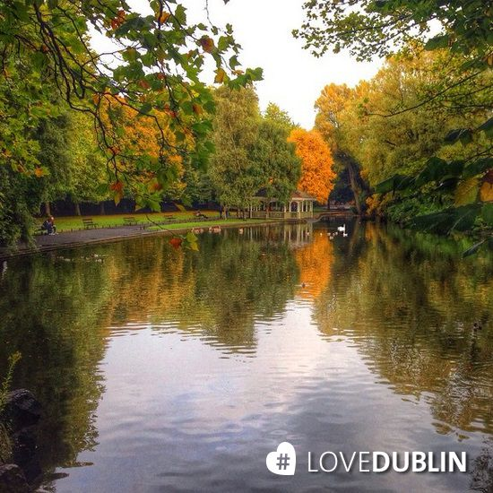 St. Stephen's Green pond and bandstand in the distance by @nadooshee #LoveDublin