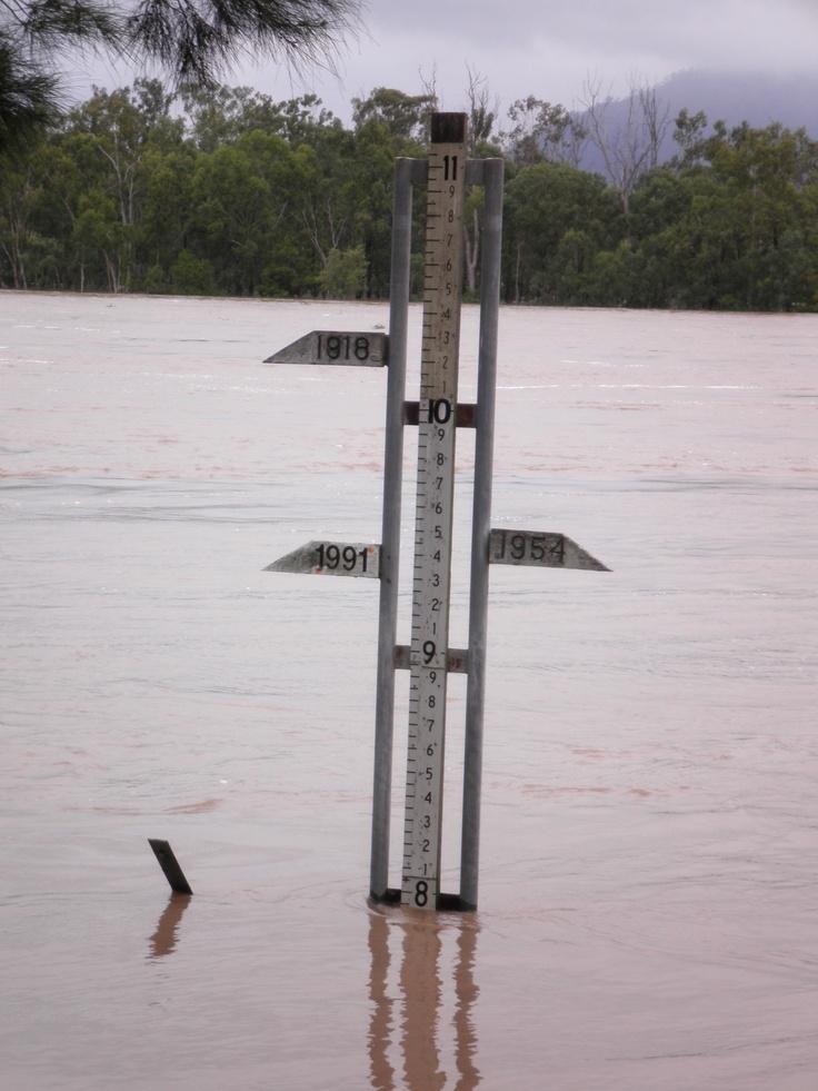 Rockhampton Flood Marker Fitzroy River 2011