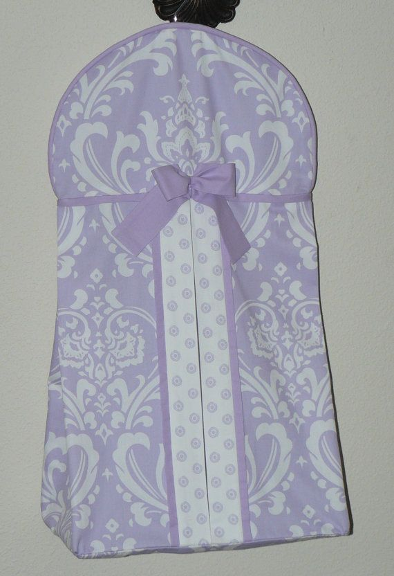 Lilac Damask by CustomBabyCreations - see matching quilt