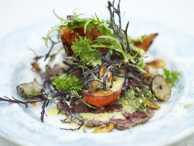 Roasted Squash and Beef Carpaccio Salad