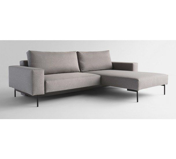 Innovation Living - Bragi Sovesofa m/chaise Lys Grå - Grå sovesofa med chaiselong