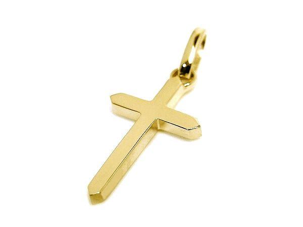 K18 yellow cross pendant charm イエローゴールド クロス ペンダント チャーム simple design シンプル デザイン #fashion #accessories #accessory #jewelry #gold  #ファッション #アクセサリー #ジュエリー #ゴールド