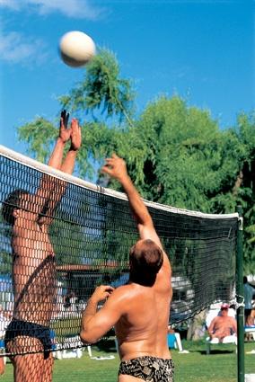 Range of activities, beach volley