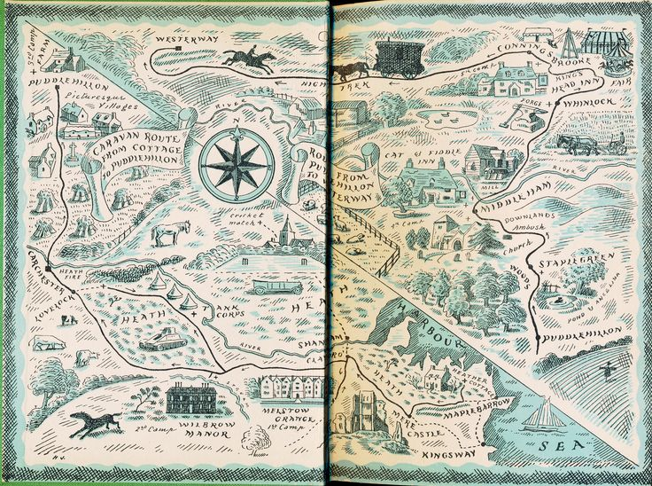Endpaper map, Harold Jones