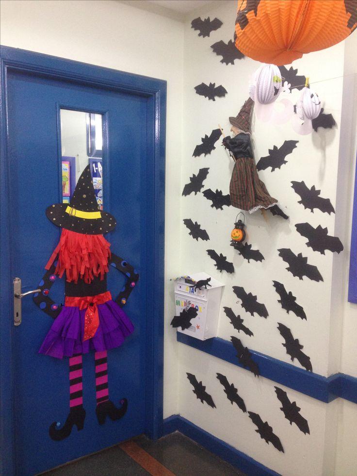 Witches door decoration