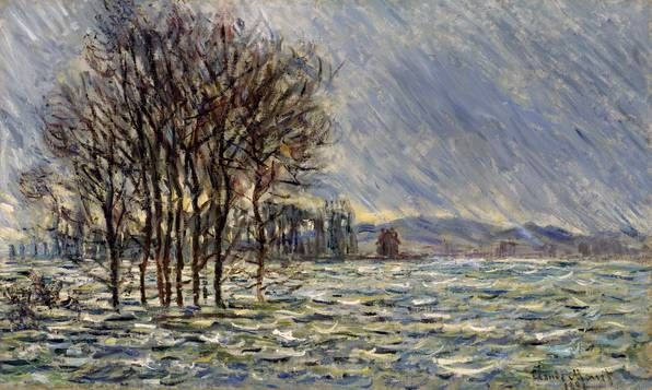 Claude Monet (1840-1926): Flood 1881, Arp Museum Bahnhof Rolandseck / collection Rau for UNICEF, Remagen, Photo: Peter Schälchli, Zurich