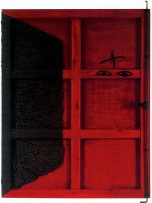 "Antoni Tàpies Puig (1923-2012). ""Porta roja, 1995"". Tierra, pintura y ensamblaje sobre madera. 155,6 x 114 cm. Col. particular. Barcelona. España."