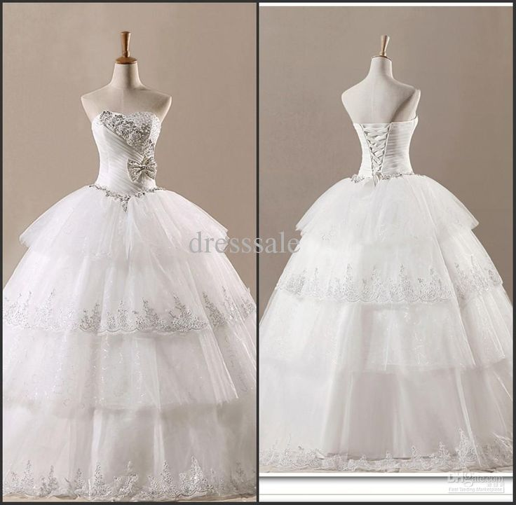 Wedding Gowns with Bling Rhinestones