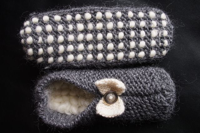 Ravelry: croknit86's Vintage Thrummed Slippers