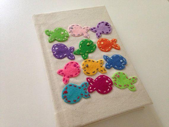 Felt Fish Fabric Covered Blank Book Journal by FeltPresence, $17.00