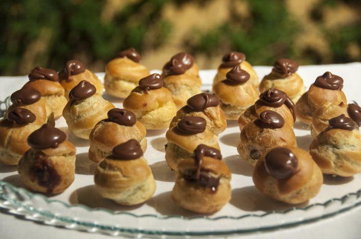 Tipical Tuscan Bignè with chocolate #guidilenci All Rights Reserved GUIDI LENCI www.guidilenci.com