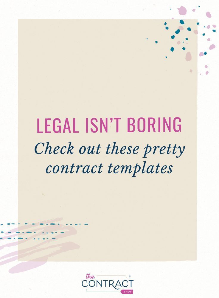 Yes, Your Contract Can Be Pretty AND Legal Entrepreneur Operations