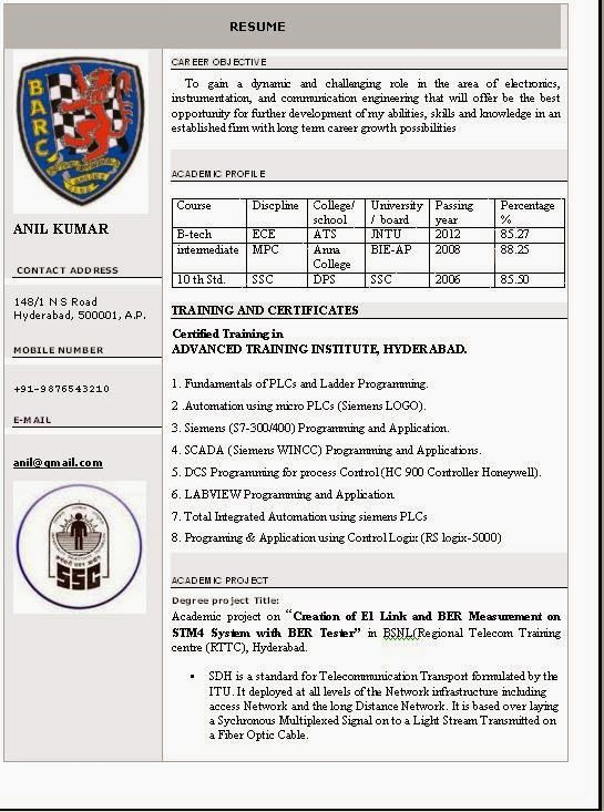 Beautiful Resume Format - Latest Express News Daily Jobs Videos
