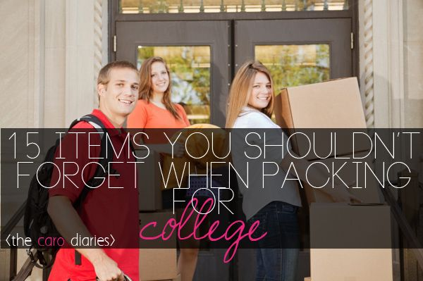 this website lists all of those items that you would typically forget when packing for college and lists why you need them.. must read for all college students!! it'll save you time and money!