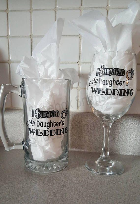 I Survived My Daughter's Wedding Mom Dad Wedding Gift