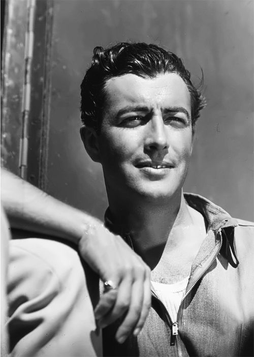 """Robert Taylor (Spangler Arlington Brugh) Born  Aug. 5, 1911 Died June 8, 1969 at age 59 of lung cancer. """"Acting is the easiest job in the world, and I'm the luckiest guy. All I have to do is be at the studio on time, and know my lines. The wardrobe department tells me what to wear, the assistant director tells me where to go, the director tells me what to do. What could be easier?"""""""