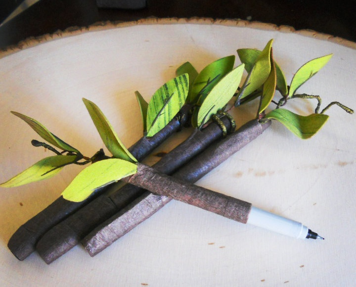 Rustic Branch Twig Pen For Use With Guest Books And Albums
