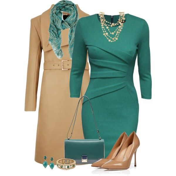 """""""Teal Dress"""" by cathy0402 on Polyvore"""