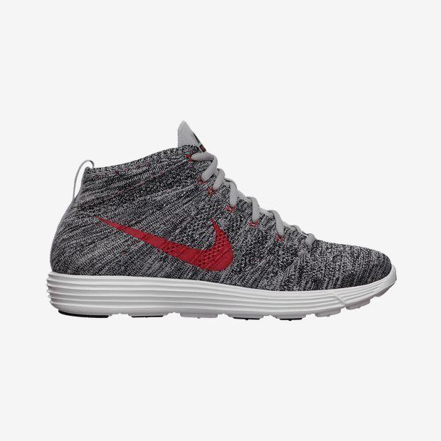 Nike Lunar Flyknit Chukka Gris / Rouge Chère vraiment sortie qualité supérieure vente achat de dédouanement Parcourir pas cher SAST en ligne Z0HRvOoIwE
