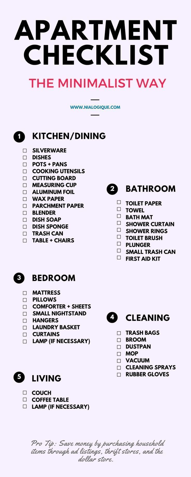 My First Place Checklist More Apartment Checklist First