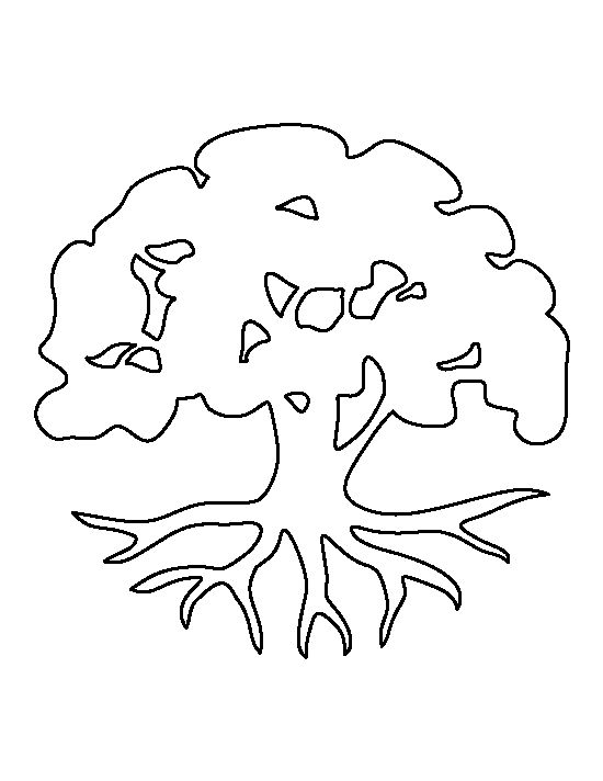 Clean image with regard to free printable tree template