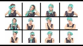 12 Head Wrap Scarf Tutorials In Under 7 Minutes, via YouTube.