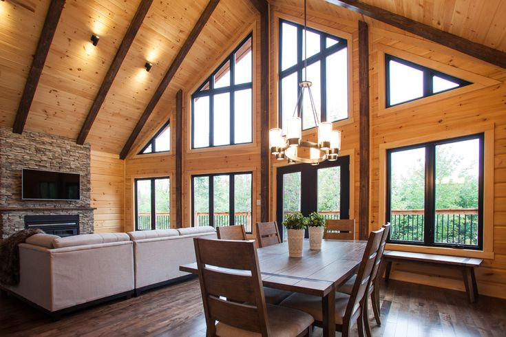 Wood Block Home by Timber Block Canada