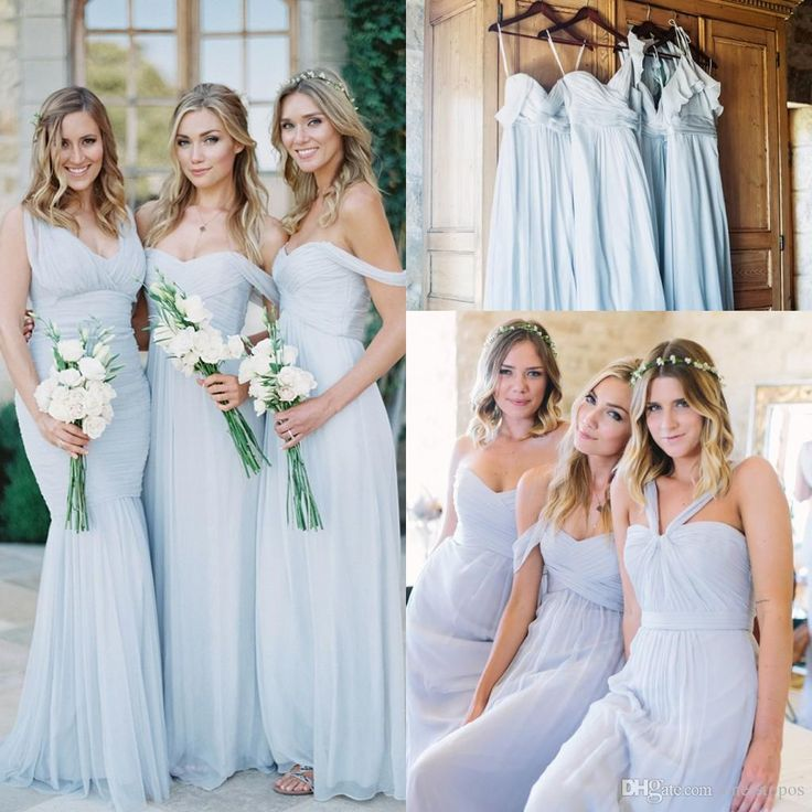 Cheap Long Chiffon Bridesmaid Dresses 2017 New 5 Mixed Styles Floor Length Elegant Garden Bridesmaid Gowns For Weddings Prom Party Dress Designer Dress Designer Gowns From One Stopos, $84.93| Dhgate.Com