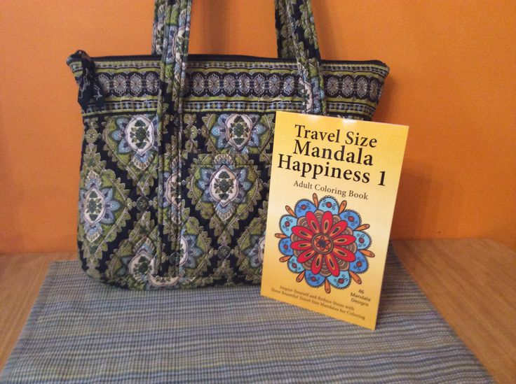 Travel Size Mandala Happiness 1 Adult Coloring Book Ready For Traveling Fits In Your