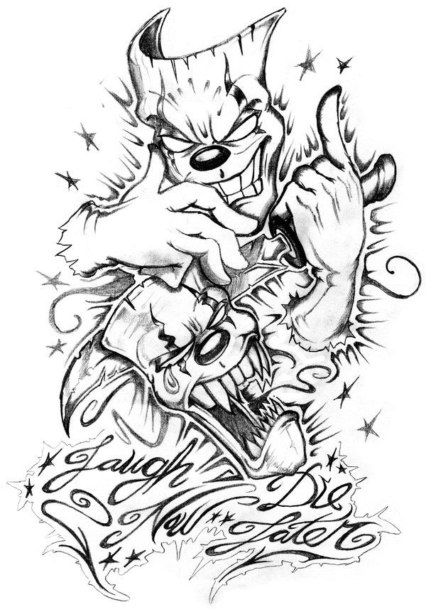 Laugh Now Cry Later Gangstas Coloring Pages Images