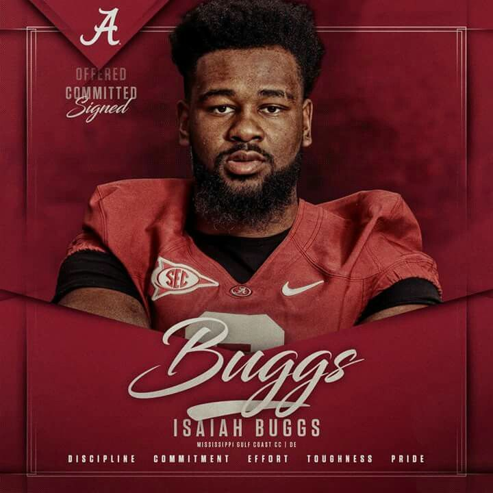 Isaiah Buggs signed letter of intent - Alabama Football #Recruiting #Alabama #RollTide #Bama #BuiltByBama #RTR #CrimsonTide #RammerJammer