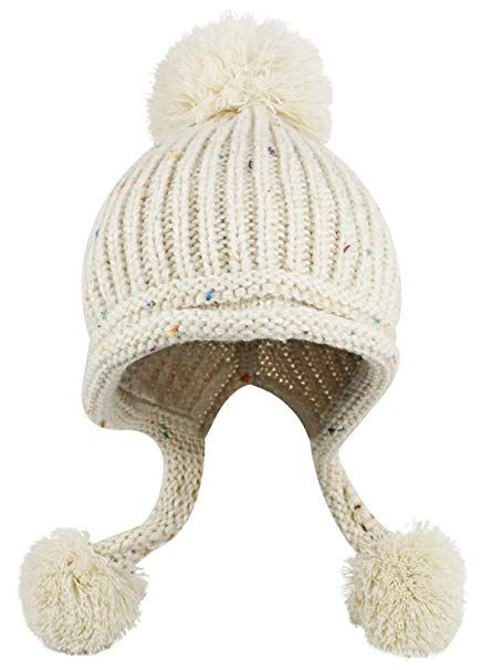 4c848625f4f9a Women Winter Crochet Knit Ski Warm Beanie Pom Ball Hat