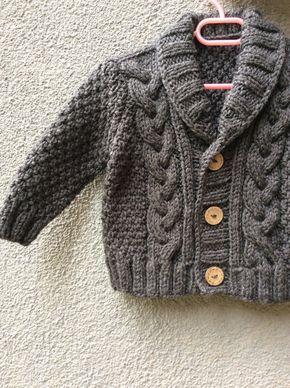 Punto bebé suéter Rebeca bebé de mano de punto por Istanbulknit