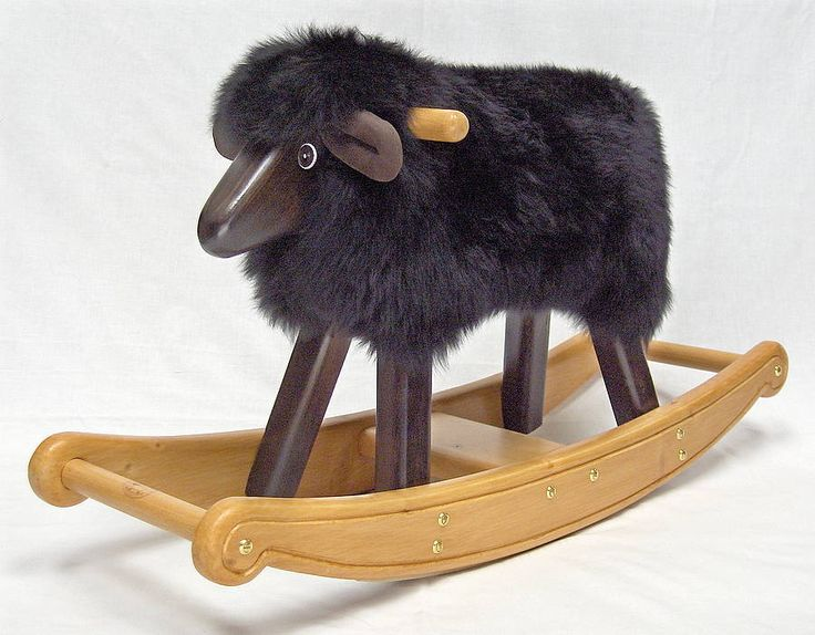 black rocking lamb by the rocking sheep company   notonthehighstreet.com