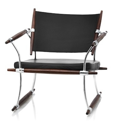 SAFARI CHAIR  Designed by Jens Quistgaard  Inspired by the sails on a ship, the Safari Chair (also called the Stokke Chair) was designed in 1965 and has just been relaunched in 2011.