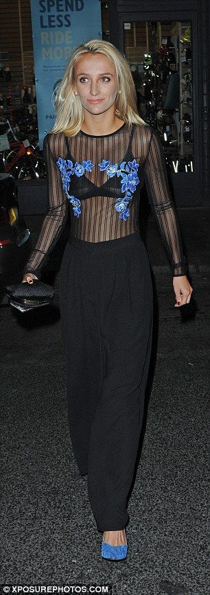 Knows how to dress: Tiffany teamed the attire with stylish high-waisted trousers...